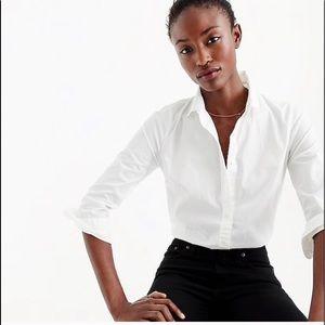 JCrew white button down shirt long sleeve